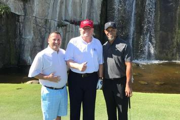 "Donald Trump Hits The Golf Course With Tiger ""Mac Daddy Santa"" Woods"