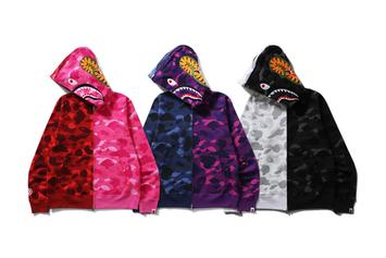 Bape Brings Back The Shark Hoodies With Their Signature Camo