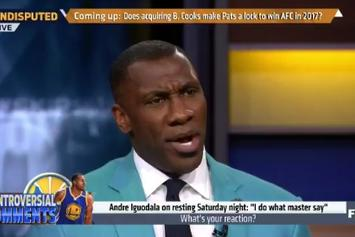 "Shannon Sharpe Lays Into Andre Iguodala For Describing Steve Kerr As ""Master"""