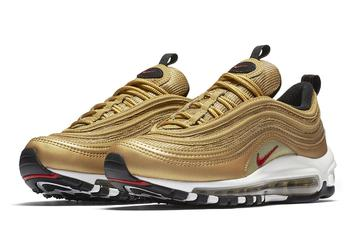 """""""Metallic Gold"""" Nike Air Max 97s To Release In Men's And Kid's Sizes This Month"""