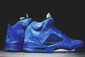 """Blue Suede"" Air Jordan 5s To Release This Summer"