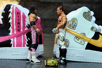 "Custom ""Wrestlemania XII"" Pack Features Bret Hart, HBK Air Force 1s"