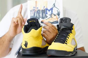 "DJ Khaled, Mark Wahlberg Debut ""Fab 5"" Air Jordans 5 PE"