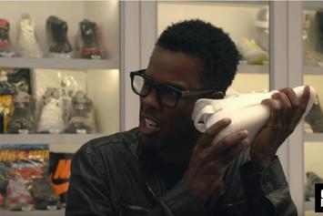"Watch Chris Rock Go ""Sneaker Shopping"" At Stadium Goods In NYC"