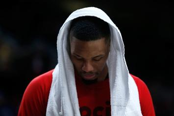 "Damian Lillard Freestyles Over Drake's ""Free Smoke"""