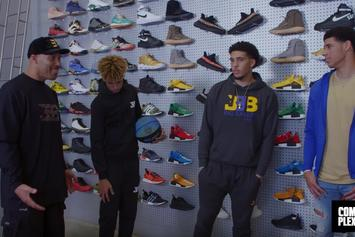 Watch LaVar, Lonzo And The Ball Brothers Go Sneaker Shopping At Flight Club LA