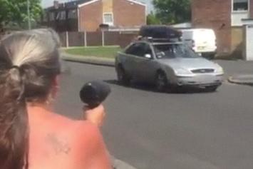 Got Em! Woman Scares Drivers By Using A Hair Dryer As Fake Speed Gun