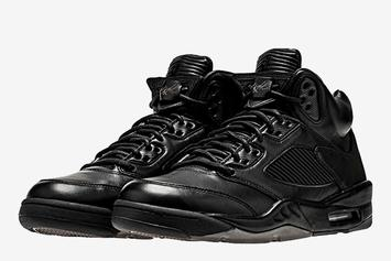 "Premium ""Triple Black"" Air Jordan 5 Release Details Announced"