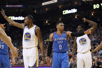 """Paul George: Russell Westbrook And Kevin Durant Are """"Buddies"""" Again"""