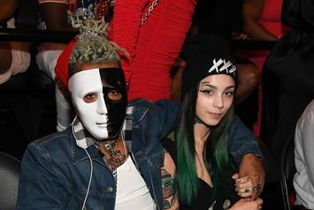 XXXTentacion Wears A Black & White Mask To BET Hip Hop Awards