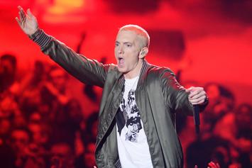 Eminem & Big Sean Welcome The Detroit Pistons At Home Opener
