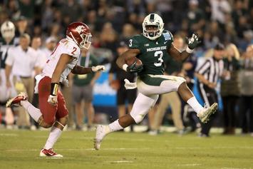 Michigan State Football's LJ Scott Announces He'll Return For Senior Year