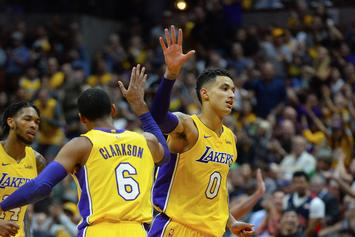 Jordan Clarkson Saves Kyle Kuzma From Lil B's Wrath