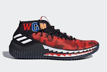 """BAPE x Adidas Dame 4 Surfaces In """"Friends & Family"""" Colorway"""