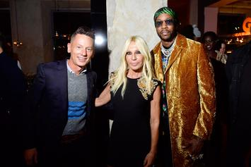 2 Chainz Hangs With Donatella Versace At Milan Fashion Week