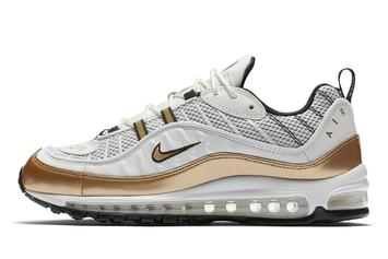 "Nike Introduces Air Max 98 ""UK"" In White & Gold"