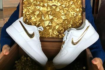Nike Gifts Cristiano Ronaldo 24K Gold Air Force 1s