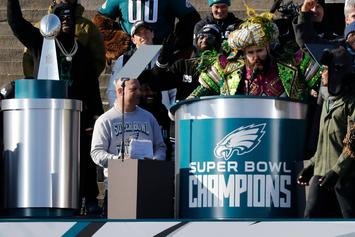 Eagles' Jason Kelce Delivers Epic Speech At Super Bowl Parade