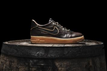 "Shoe Surgeon Reveals ""Jack Daniel's"" Air Force 1 For All-Star Weekend"