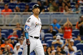 Giancarlo Stanton Says Goodbye To Miami After Being Introduced In NYC