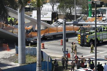 Bridge Collapse At Florida International University Leaves Several People Dead