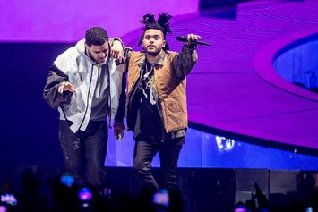 "The Weeknd Shuts Drake's ""Hotline Bling"" Out Of The No. 1 Spot For Another Week"