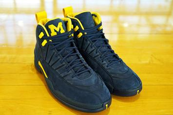"Air Jordan 12 ""Michigan"" Rumored To Drop This Month"