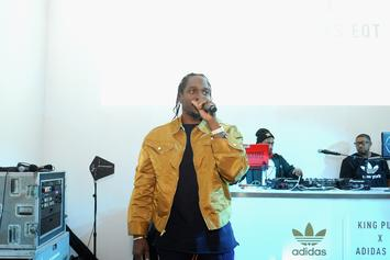 Pusha T & Travi$ Scott Perform At BAPE 10th Anniversary Party