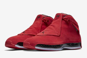 "Air Jordan 18 ""Red Suede"" Makes Retail Debut This Weekend"