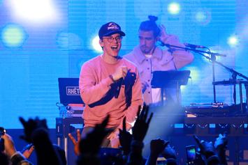 "Logic Challenges Drake To Fortnite While Performing ""Everyday"" On ""Ellen Show"""