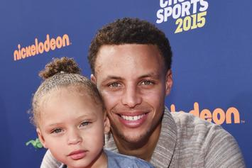 "Watch Riley Curry's ""Dab-Off"" During Stephen Curry's HS Jersey Retirement Ceremony"