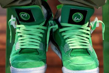 "Mark Wahlberg Reveals ""Wahlburgers"" Air Jordan 4"