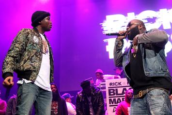 Rick Ross & Meek Mill Perform For Philadelphia Eagles During Super Bowl Ring Party