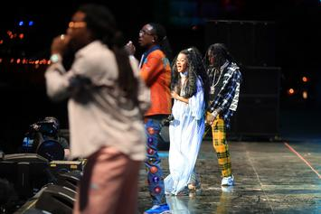 "A Very Pregnant Cardi B Performs ""Motorsport"" With The Migos"