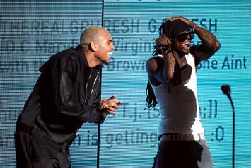 """Chris Brown Praises Lil Wayne As The GOAT For Clever """"Suicide"""" Rhymes"""