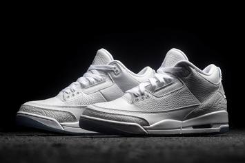 "Air Jordan 3 ""Pure White"" Hits Retailers This Week"