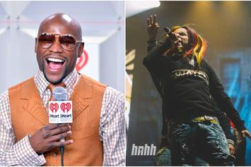 Floyd Mayweather Hugs It Out With 6ix9ine Like A True Fan