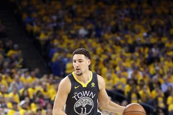 "Klay Thompson Already Has ""Back To Back"" Championship Sneakers"