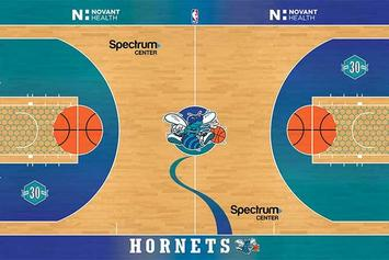 "Charlotte Hornets Unveil Retro ""Classic Nights"" Court For Select Games"