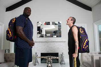 "Shaq x Sprayground Unveil ""Largest Backpack Ever"""
