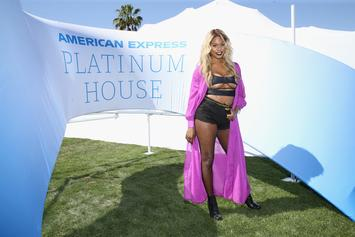 "Laverne Cox Bodies Ciara's ""Level Up"" Dance In Sexy Two-Piece Suit & Pool Thirst Trap"