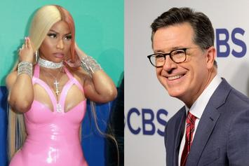 Nicki Minaj's Bawdy Bars Have Stephen Colbert Reddening Like A Schoolboy