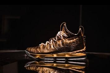 "Nike LeBron 15 ""Diamond And Gold"" 1-Of-1 Customs Unveiled"