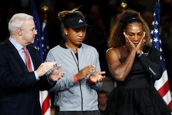"Serena Williams Fined $17,000 For ""Verbal Abuse"" & Smashing Her Racket"