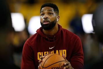 "Tristan Thompson Spotted Being ""Touchy-Feely"" With Mystery Woman: Report"