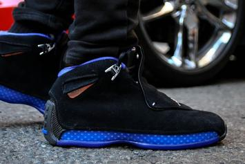 "Air Jordan 18 ""Black Sport Royal"" Releasing Today: Purchase Links"