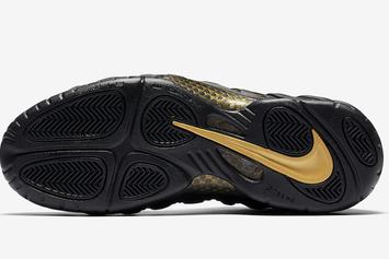 "Nike Air Foamposite Pro ""Black/Metallic Gold"" Gets November Release Date"