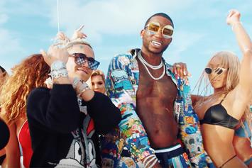 """Gucci Mane Celebrates 10/17 With New Party-Filled Video For """"Kept Back"""" With Lil Pump"""