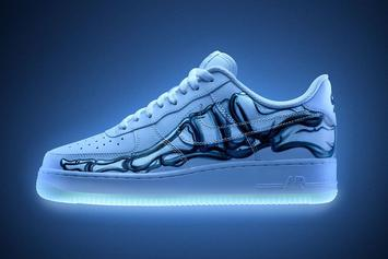 "Halloween-Themed Nike Air Force 1 ""Skeleton"" Releasing Today: Purchase Links"