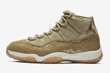 "Air Jordan 11 ""Olive Lux"" To Debut On Black Friday"